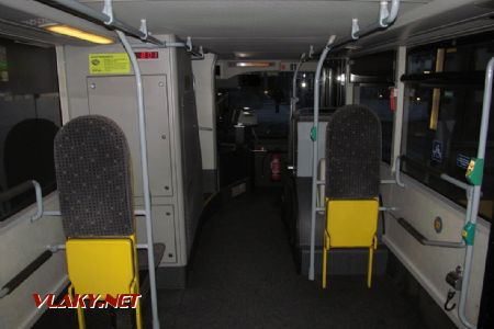 28.12.2018 – Sargans: interiér autobusu MAN Lion's City DD – spodní patro © Dominik Havel