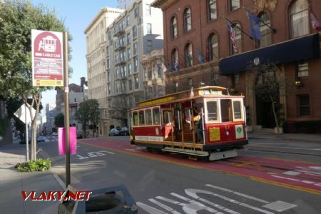 Cable Car stanicuje v Powell Street, 7. 2. 2020 © Libor Peltan