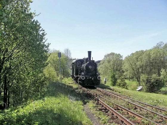 21.05.2005 - Meziměstí: oslavy 130 let trati Choceň - Broumov, 310.922 se zvláštním vlakem z Náchoda © PhDr. Zbyněk Zlinský