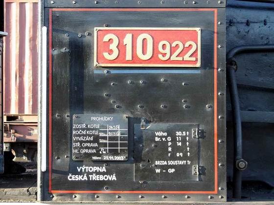 23.09.2006 - Česká Třebová: Den železnice, 310.922 - označení a popisy © PhDr. Zbyněk Zlinský