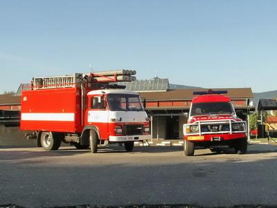 22.09.2007 - Liberec: vozidla drážních hasičů při přípravách na ukázky © PhDr. Zbyněk Zlinský