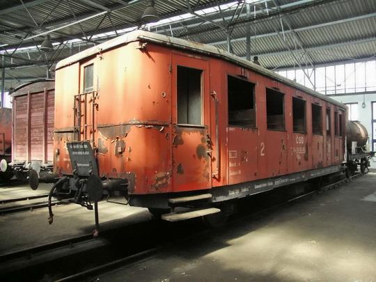 Starší typ - 30.06.2007 - depozitář NTM Chomutov: přípojný vůz CDlm 4-9803 (Ringhoffer Tatra 1935) © PhDr. Zbyněk Zlinský