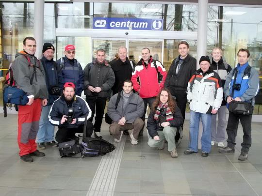 27.11.2007 - Ostrava-Svinov: skupinový snímek na určeném místě srazu © Milan Vojtek