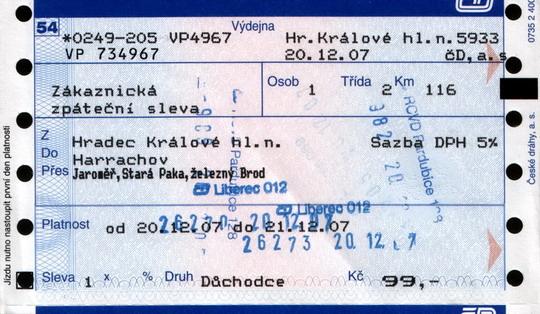 Jízdenka jen pro vyvolené (senilní In-zákazníky Českých drah)
