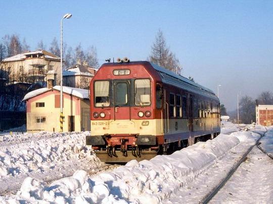 28.01.2006 - Jeseník: 843.028, původně zrušená, ale v Krnově opět uvedena do provozního stavu © Radek Hořínek