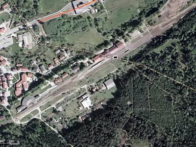 Fotomapa železniční stanice Železná Ruda © Mapy.cz - ZOBRAZ!