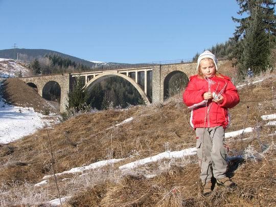Víchrica pózuje pod Telgartskym viaduktom.