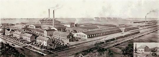 Továrna v Butovicích v létě roku1906 - archiv ČKD Vagonka