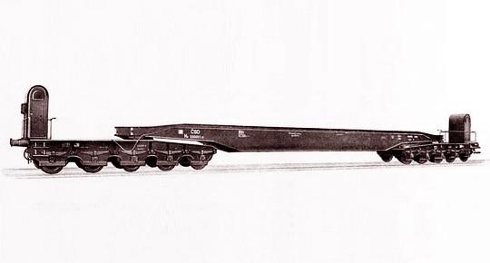 Vanový vůz řady Hx vyráběný ve Studénce od poloviny 50. let - archiv ČKD Vagonka