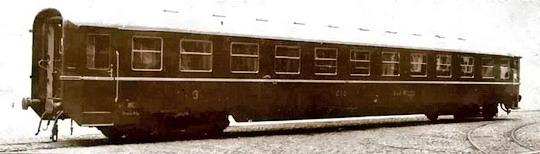 Rychlíkový vůz řady Ca vyráběný také ve Studénce v letech 1951 a 1952 - archiv ČKD Vagonka