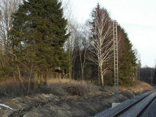 23.02.2008 - před Lichkovovem: elektrizace trati do Polska (foto ze Sp 1908) © PhDr. Zbyněk Zlinský