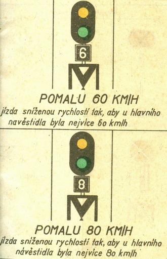 Predzvesť s indikátorom rýchlosti... © Lit. [6] rok 1956