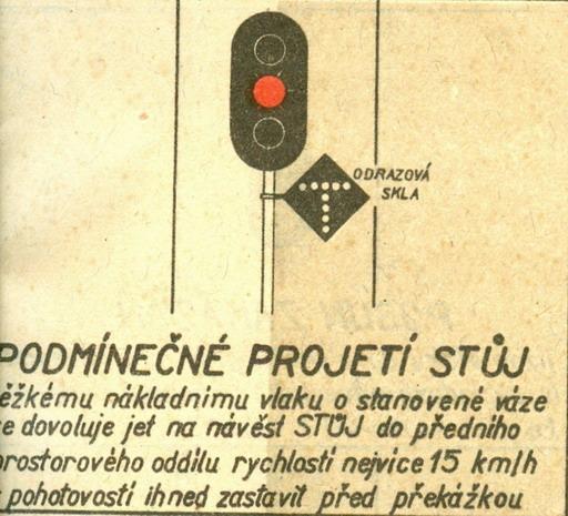 """""""Podmienečné prejdenie Stoj""""... © Lit. [6] rok 1956"""