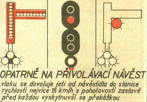 """""""Opatrne na privolávaciu návesť""""... © Lit. [6] rok 1956"""
