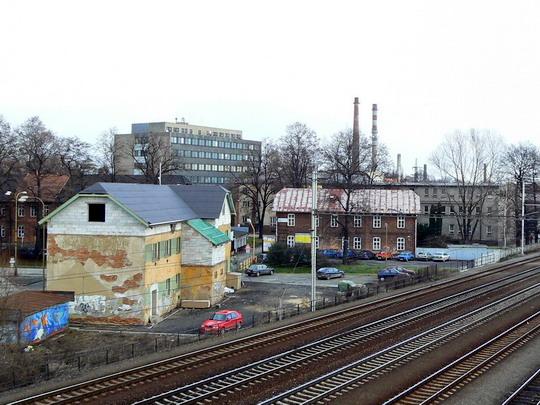 04.12.2007 - Studénka: část někdější vagonky se zástavbou z 60. let © Karel Furiš