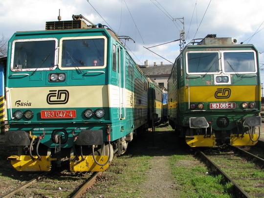 22.03.2008 - Přerov: srovnání čel polonizované 163.047-4 a 163.065-6 © PhDr. Zbyněk Zlinský