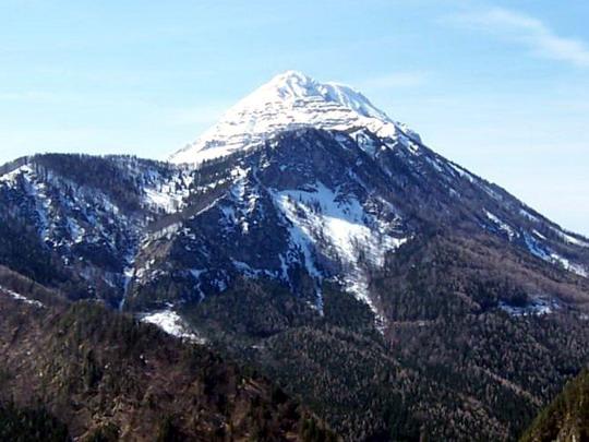30.3.2008 – Výhled z vlaku na horu Ötscher © Marek Topič