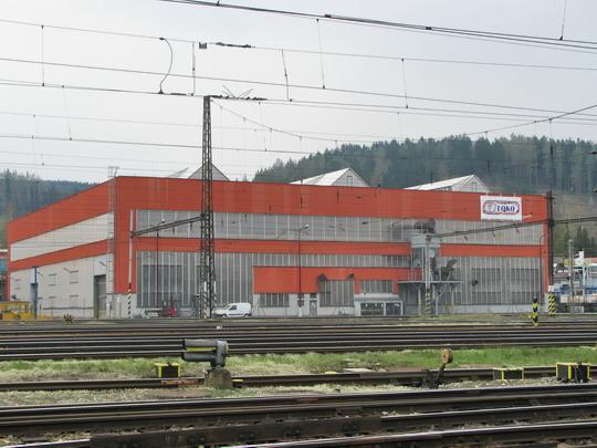 17.04.2008 - CZ LOKO Česká Třebová: pohled na novou halu od nádraží © PhDr. Zbyněk Zlinský