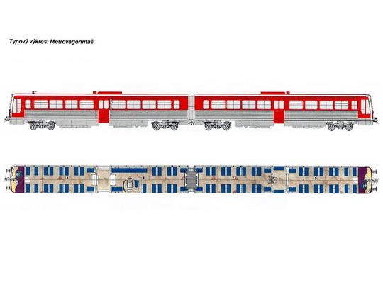 Typový výkres jednotky RA-Č © Metrovagonmaš - ZOBRAZ!