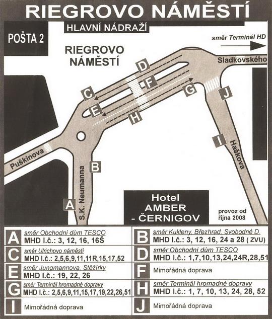Terminál hromadné dopravy - stanoviště před hlavním nádražím; zdroj: Radnice 17/2008 - ZOBRAZ!