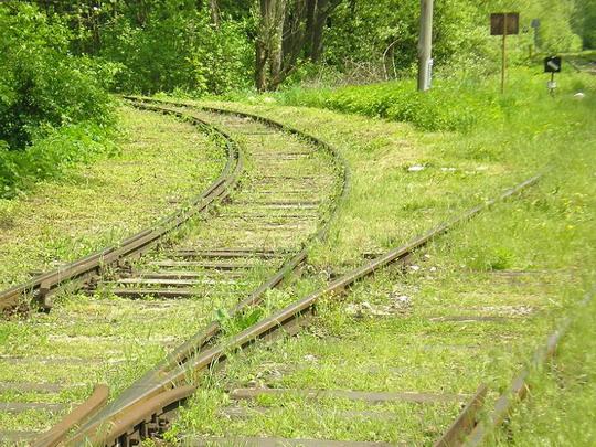 11.5.2008 - Počkaj: koľaj smerujúca do píly © P.Nohavica