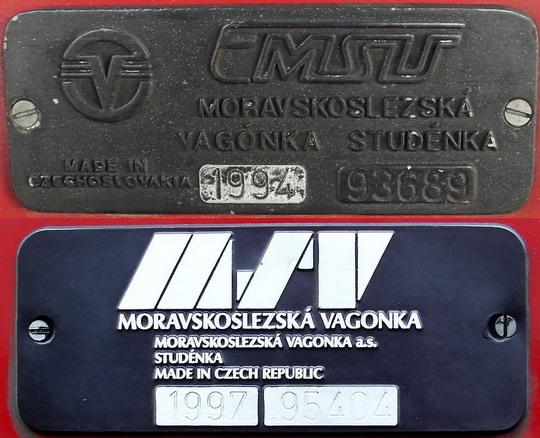 Vagónka a Vagonka - štítky vozů 842.035-8 a 843.016-7 © PhDr. Zbyněk Zlinský