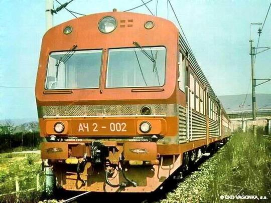 Souprava AČ 2 - 002 na cestě k ruskému zákazníkovi dne 10.11.1987 © ČKD Vagonka, a.s.