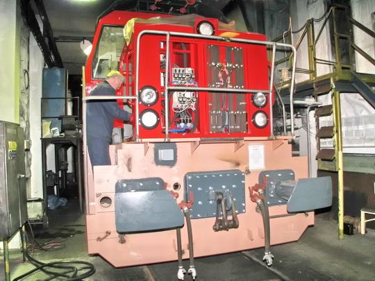 17.04.2008 - CZ LOKO Česká Třebová: zkušebna lokomotiv - 724.805-7 TŽ © PhDr. Zbyněk Zlinský