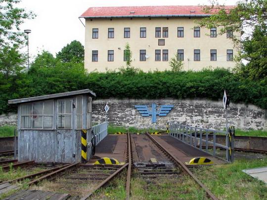 22.05.2008 - depo Jihlava: točna se symbolem železnic © PhDr. Zbyněk Zlinský