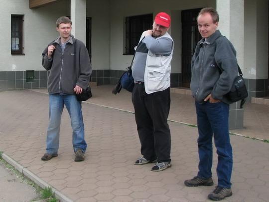 06.05.2008 - Lisková: Juraj, Milan a Tomáš před rozloučením © PhDr. Zbyněk Zlinský