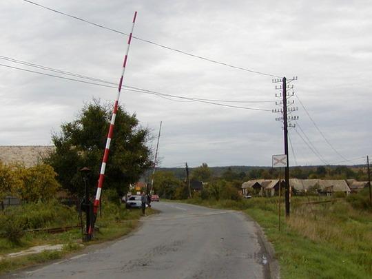 Zelené - Mechanické závory km 16,127, 24.9.2003, © ddzz