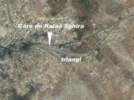 Triangl a nádraží Kalaâ Sghira na fotomapě Google - ZOBRAZ!
