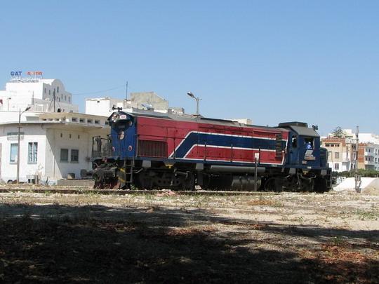 15.06.2008 - Sousse: lokomotiva 91 91 0 000566-0 při objíždění soupravy DClim 5-12/55 Tunis Ville - Sousse © PhDr. Zbyněk Zlinský