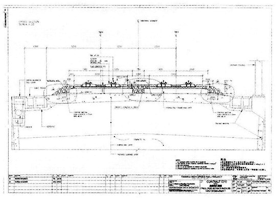 Vykres - Rheda 2000 v priamej na zemnom telese, priecny rez; archiv FS - ZOBRAZ!