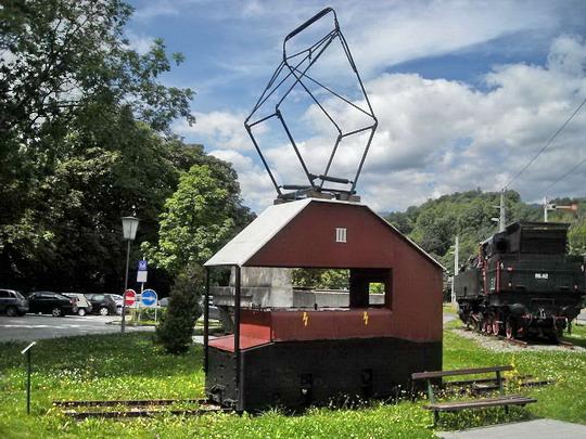 ŽST Payerbach - Reichenau, historická elektrická mašinka, 10.8.2008, © Peter Žídek