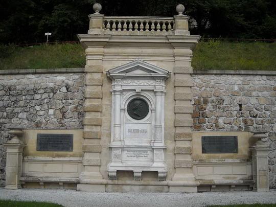 ŽST Semmering, pamätník staviteľovi trate, 16.8.2008, © Peter Žídek