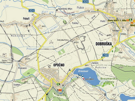 Trať Dobruška - Opočno pod O.h. na turistické mapě © mapy.cz - ZOBRAZ!