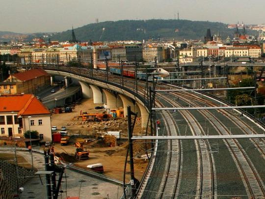 12.9.2008 - Nové spojení: estakáda hlavní nádraží © Jiří Řechka