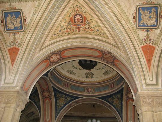 Výzdoba stropu dvorany staniční budovy v Teplicích v Čechách dne 28.9.2008 © PhDr. Zbyněk Zlinský