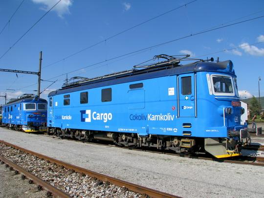"""""""Modrá je dobrá"""" aneb 123.001-0 a 122.021-2 na kolejích SOKV Ústí nad Labem dne 26.9.2008 © PhDr. Zbyněk Zlinský"""