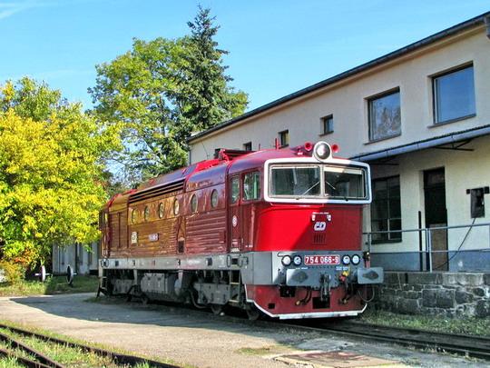 12.10.2008 - PP Jihlava: 754.066-9 po hlavní opravě v CZ LOKO Česká Třebová © PhDr. Zbyněk Zlinský