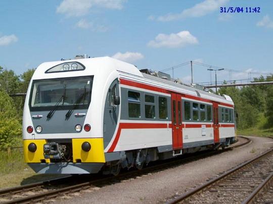 31.05.2004 - Ostrava: první zkušební jízda prototypu vozu Dm12 © ŠKODA VAGONKA