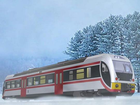 Vizualizace designu motorového vozu řady Dm12 © ŠKODA VAGONKA