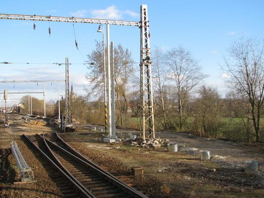 22.03.2008 - Moravičany: práce na koridoru (foto z Ex 524) © PhDr. Zbyněk Zlinský