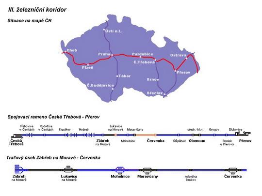 III. koridor s traťovým úsekem Zábřeh n.M. - Červenka © Mirda - ZOBRAZ!