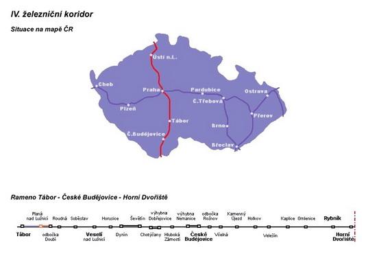 IV. koridor s traťovým úsekem České Budějovice - Horní Dvořiště © Mirda - ZOBRAZ!