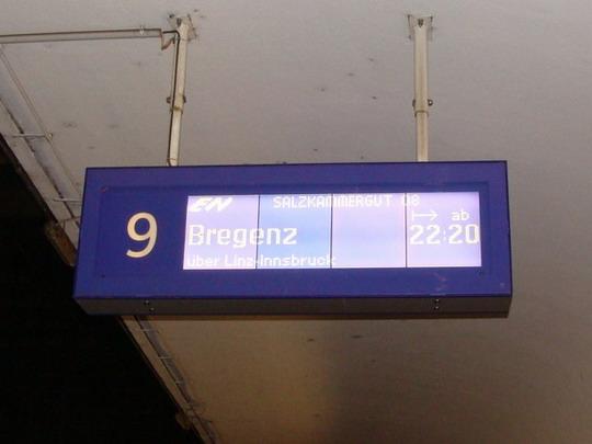 30.10.2008 - Wien Westbahnhof: EN 246 do Bregenzu je už vysvietený © Martin Kóňa