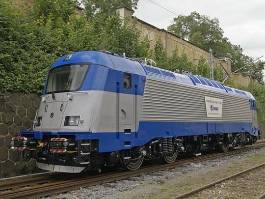 24.07.2008 - Plzeň: první dokončený stroj typu Š 109E při prezentaci v areálu výrobce - zdroj: archiv VLAKY.NET