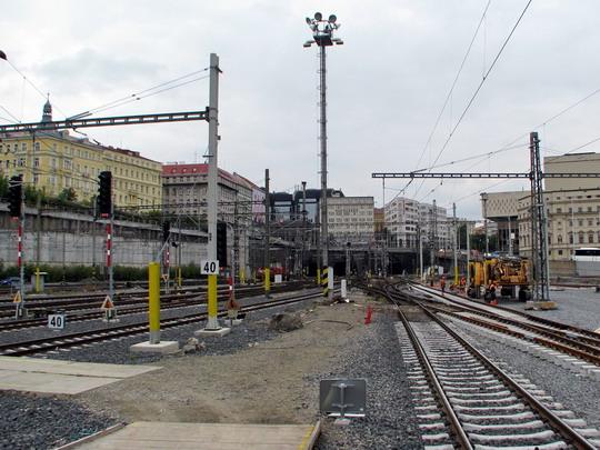17.09.2008 - Praha hl.n.: práce na Vinohradském zhlaví © PhDr. Zbyněk Zlinský