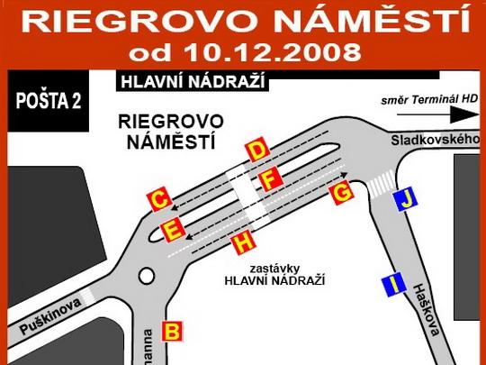 Plán stanovišť zastávky Hlavní nádraží ve formátu PDF - ZOBRAZ!